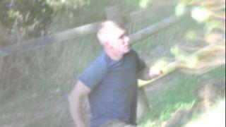 Maxwell captured on CCTV at Powderham New Plantation in Devon