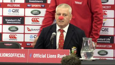 Gatland clowns around