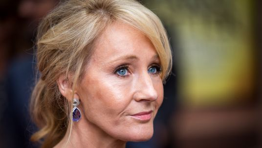 LONDON, ENGLAND - JULY 30: J. K. Rowling attends the press preview of 'Harry Potter & The Cursed Child' at Palace Theatre on July 30, 2016 in London, England. Harry Potter and the Cursed Child, a two-part West End stage play written by Jack Thorne based on an original new story by Thorne, J.K. Rowling and John Tiffany. (Photo by Rob Stothard/Getty Images)