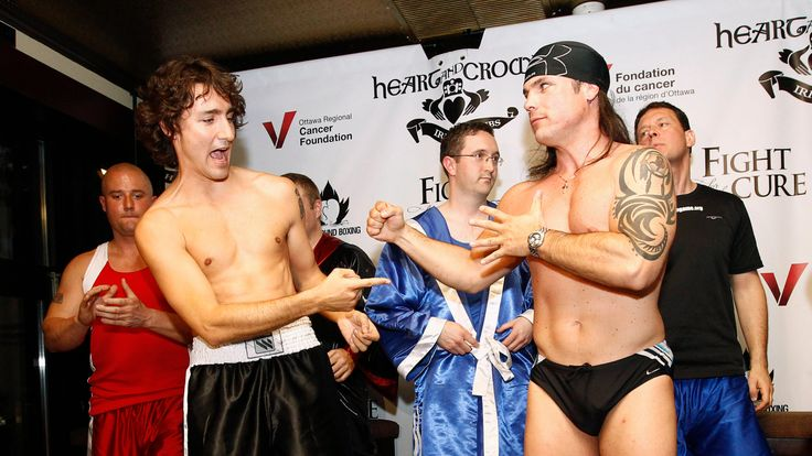 Justin Trudeau took part in a charity boxing match in 2012