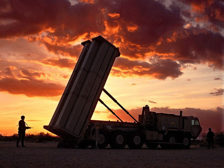 The US has developed the THAAD missile system to shoot down ICBMs in flight