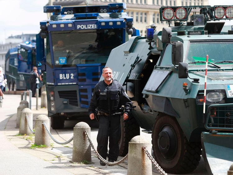 Police in Hamburg are braced for protests
