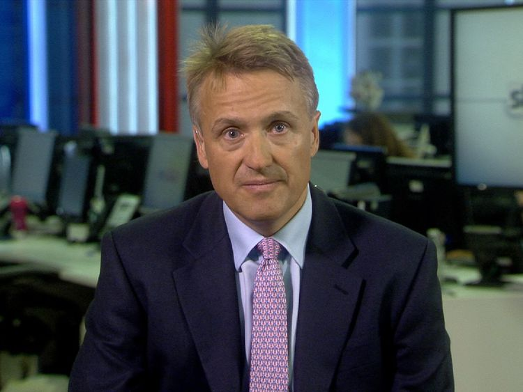 Conservative back bencher Charles Walker MP talking at Millbank studio.