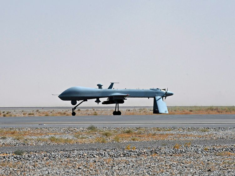 The airstrike was reportedly carried out by a US drone. File pic