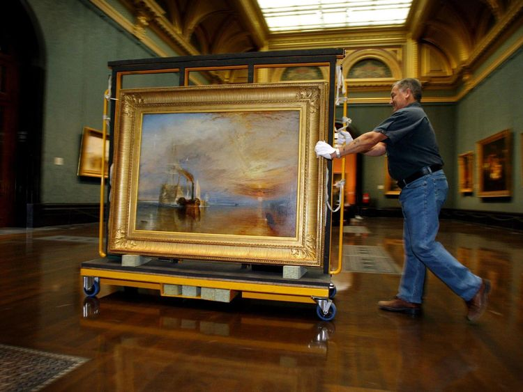JMW Turner's 1839 work The Fighting Temeraire has come fourth in a poll of the nation's favourite artwork