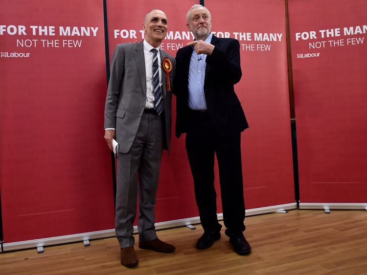 Jeremy Corbyn with Chris Williamson during the election campaign