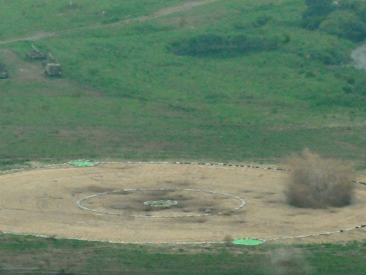 The US bombers dropped inactive weapons on a training range in South Korea