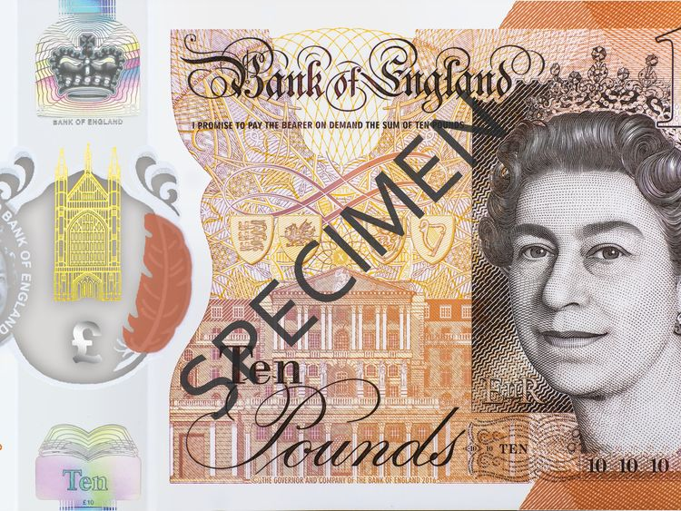 New ten pound note