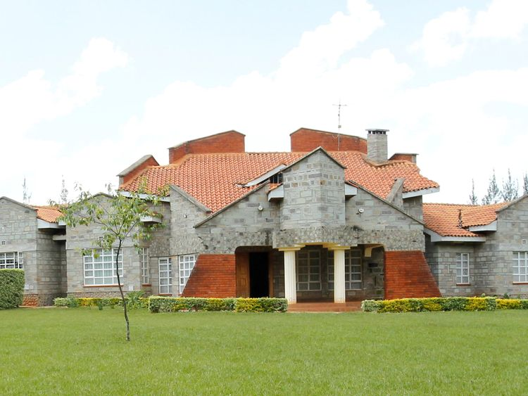The home of Kenya's vice president, William Ruto. File picture