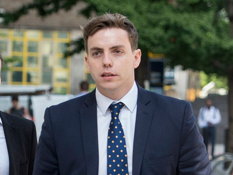 Nathan Gray arrives at Westminster Magistrates' Court