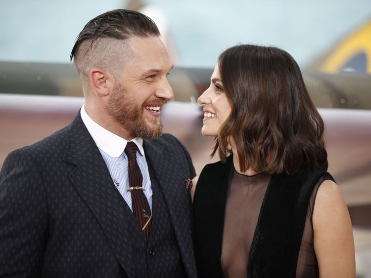 Tom Hardy and wide Charlotte Riley also attended the premiere