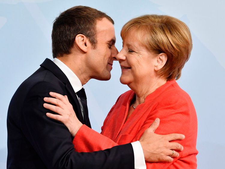 Image result for merkel macron