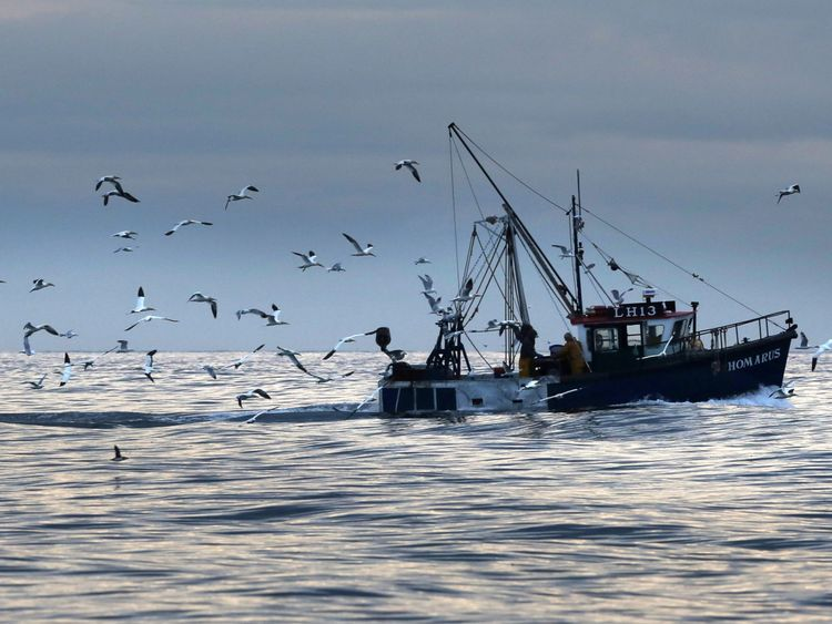 A fishing boat. File picture
