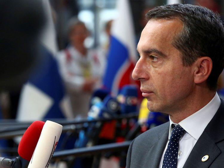 Christian Kern has tried to reassure Austria's neighbour
