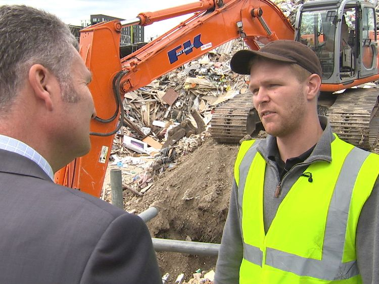 Jack Goodman, who runs a waste site in east London