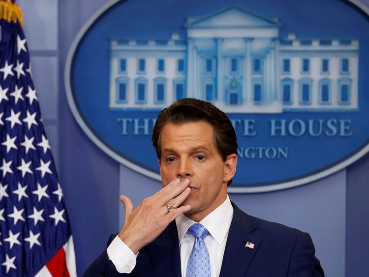 Anthony Scaramucci has been removed from his position after just 10 days