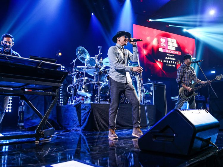 Linkin Park perform in Los Angeles