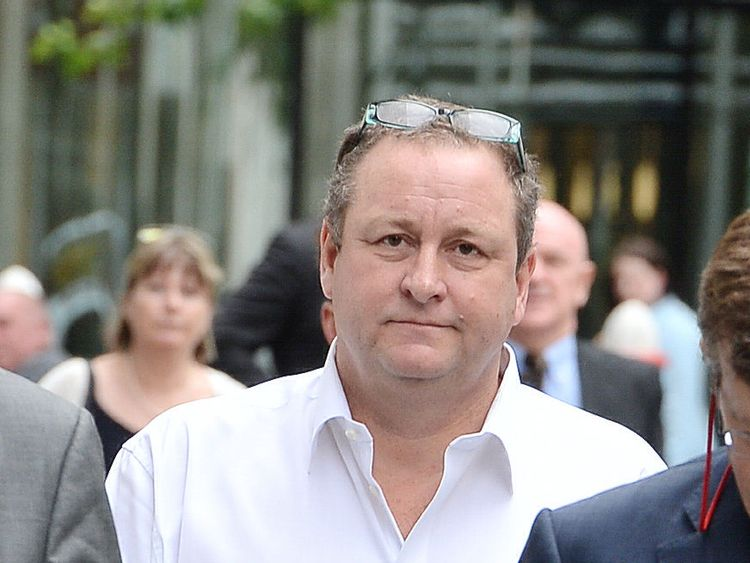 Newcastle United owner and sportswear firm boss Mike Ashley arrives at the High Court in London, where he faces a dispute with finance expert, Jeffrey Blue. PRESS ASSOCIATION Photo. Picture date: Monday July 3, 2017.