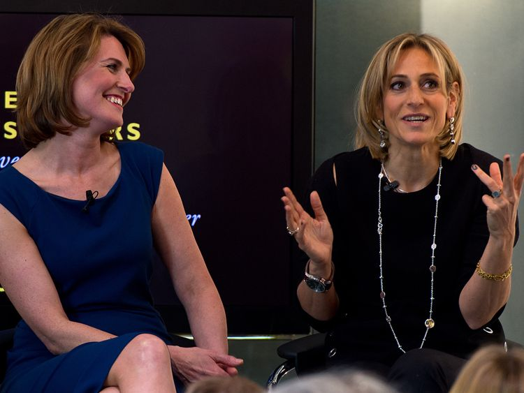 Emily Maitlis is a high profile BBC presenter