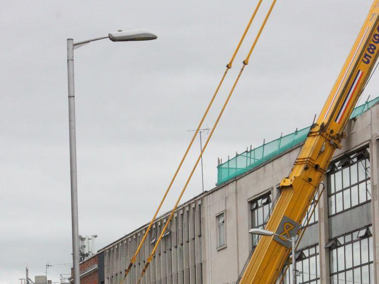 Crane collapse in Reading