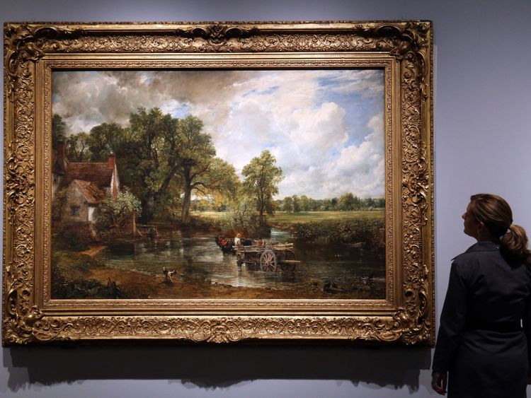 John Constable's 1821 painting The Hay Wain has come second in a poll of the nation's favourite artwork