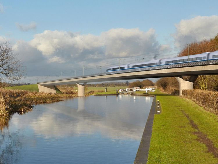 Undated handout file image issued by HS2 of the Birmingham and Fazeley viaduct, part of the proposed route for the HS2 high speed rail scheme. Troubled construction giant Carillion is among the firms awarded contracts for the building of phase one of the HS2 rail line, the Government has announced