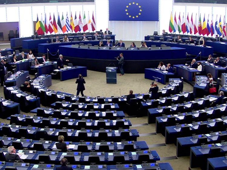 The European Parliament chamber