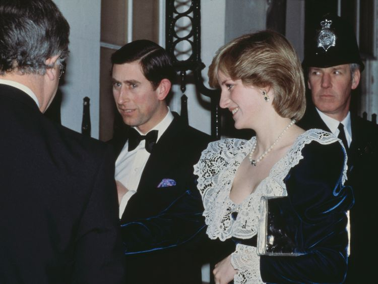 Charles and Diana at a Downing Street reception in 1982