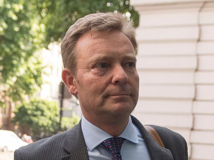 Craig Mackinlay arrives at Westminster Magistrates' Court