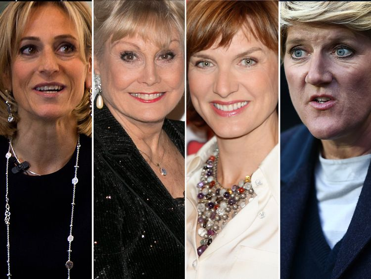 Emily Maitlis, Angela Rippon, Fiona Bruce and Clare Balding are among the signatories