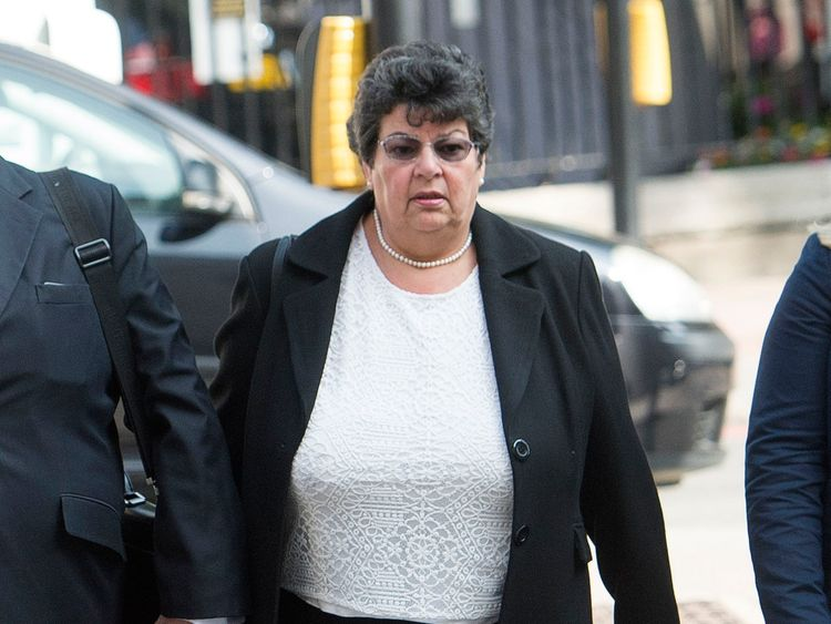 Marion Little arrives at Westminster Magistrates' Court