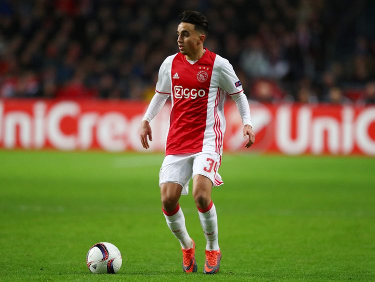 Abdelhak Nouri of Ajax in action during the Europa League match against Panathinaikos