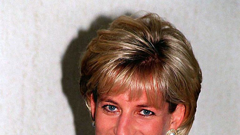 Princess Diana photographed in April 1997