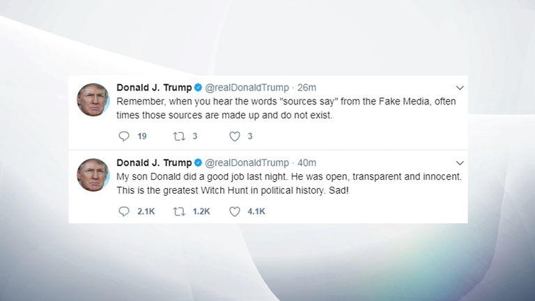 Donald Trump tweets