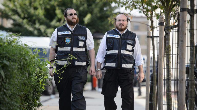 Jewish security patrol team
