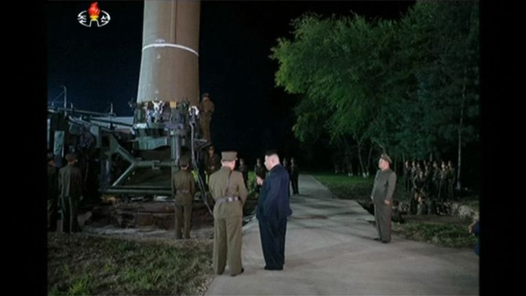 North Korea's leader Kim Jong Un personally oversaw the launch