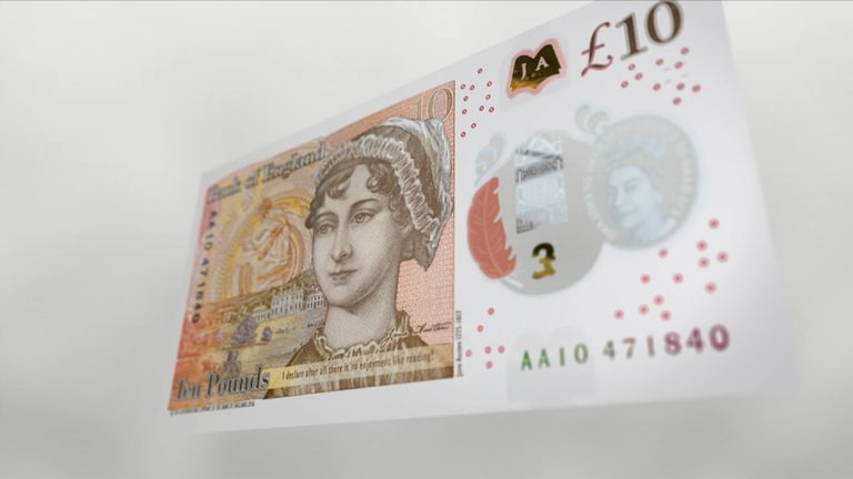 The latest inflation figures spark a fall in the value of the pound as they are seen as easing pressure for an interest rate rise.