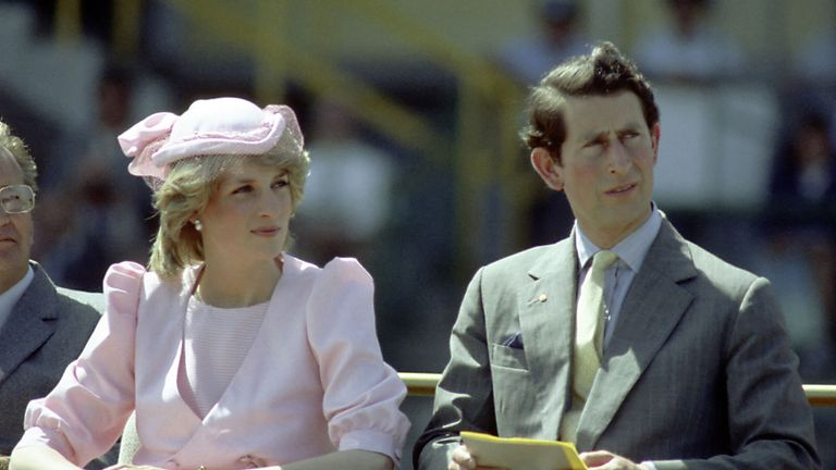 Princess Diana with Prince Charles in Australia in 1983