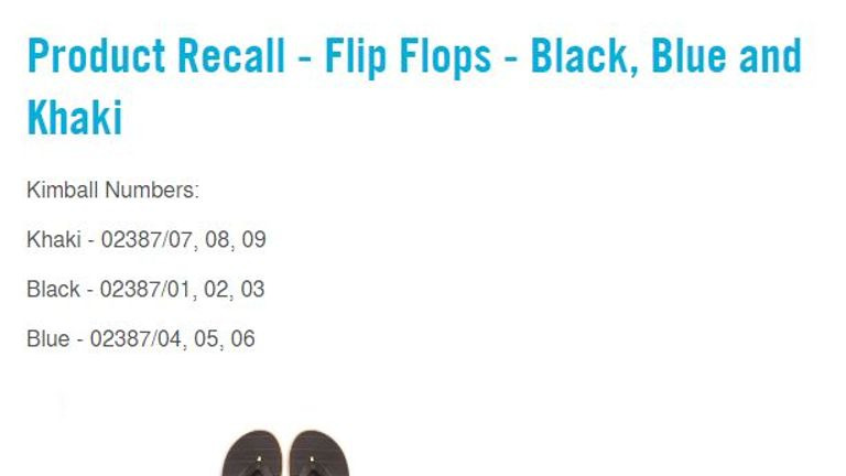 02808b2e26a1 Primark recalls thousands of flip flops due to fears over cancer ...