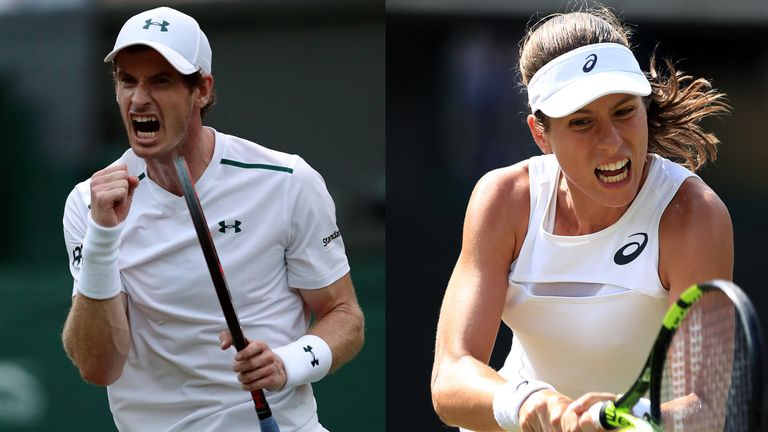 Andy Murray and Jo Konta have reached the next round at Wimbledon