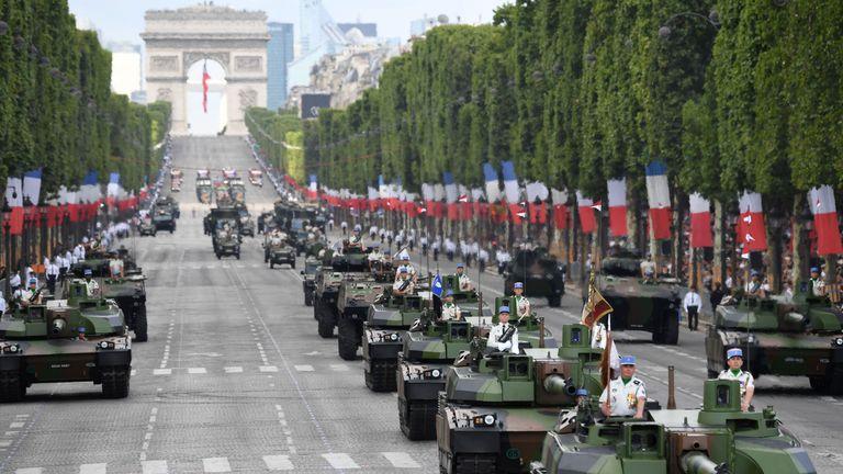 Tanks at the Bastille Day parade