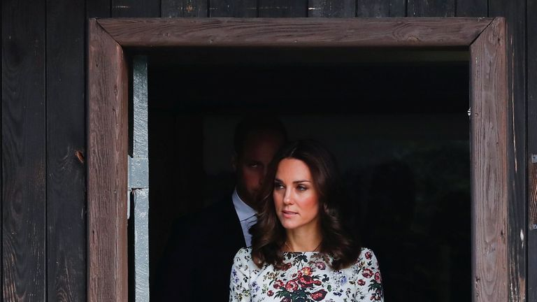 Catherine, The Duchess of Cambridge at the museum of former German Nazi concentration camp Stutthof in Sztutowo, Poland