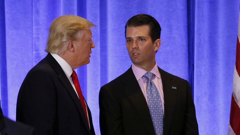 Donald Trump Jr published the emails on Twitter
