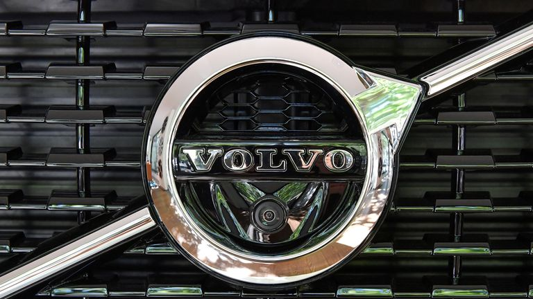A Volvo XC 90 car is seen during an interview with CEO Hakan Samuelsson at the Volvo Cars Showroom in Stockholm, Sweden July 5, 2017. TT News Agency/Jonas Ekstromer/via REUTERS