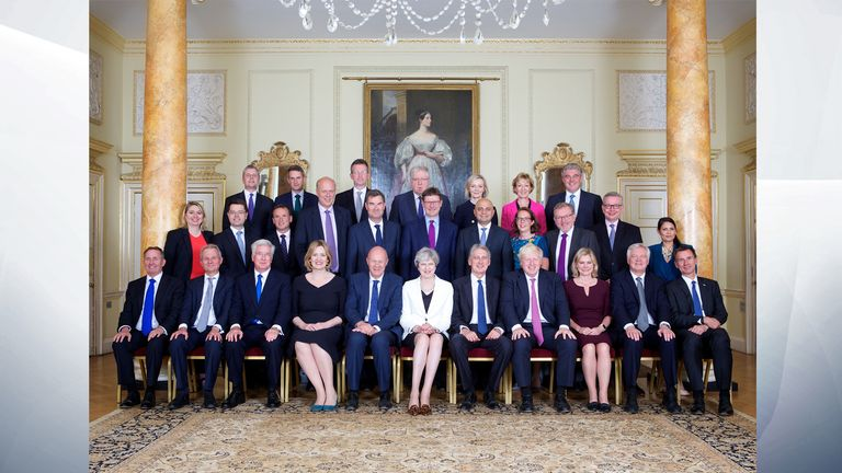 The Government has released a new photo of the Cabinet
