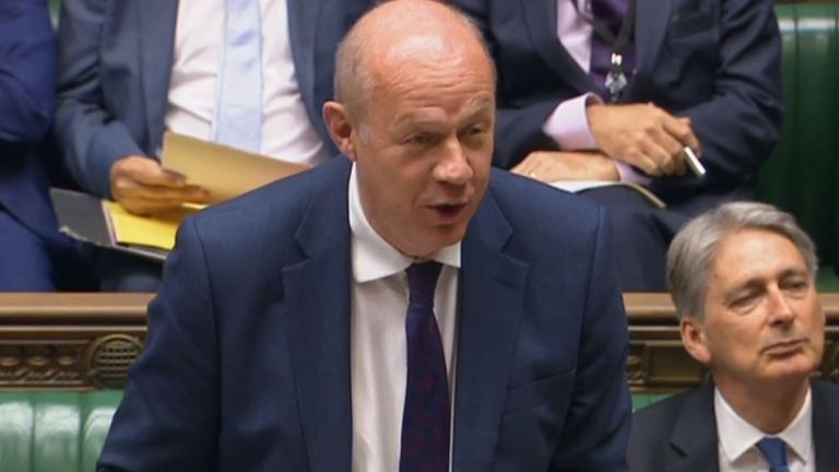 First Secretary of State Damian Green speaks during Prime Minister's Questions
