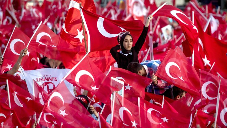 Supporter of Turkey's President Recep Tayyip Erdogan
