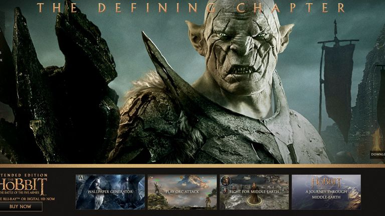Lord of the rings website