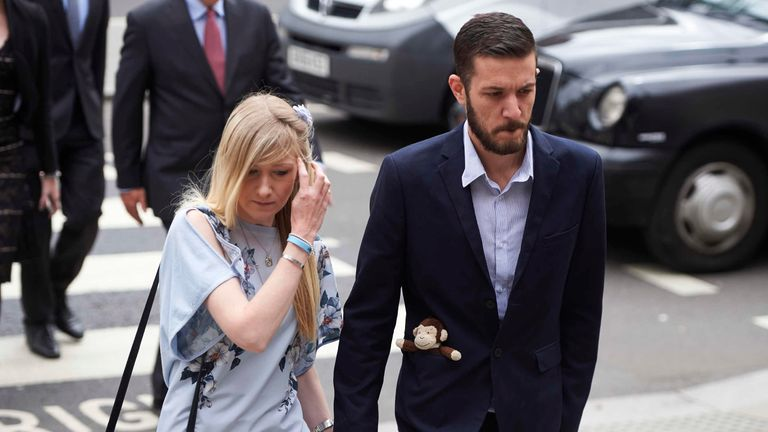 Charlie Gard's parents arrive in court for latest hearing