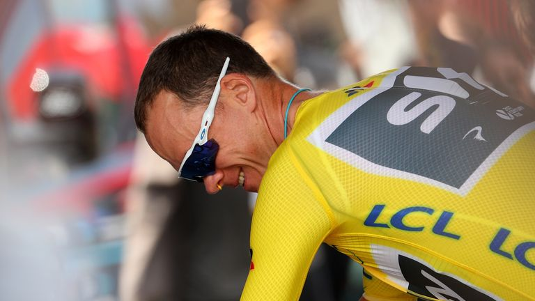 Chris Froome on the verge of winning another Tour de France title.